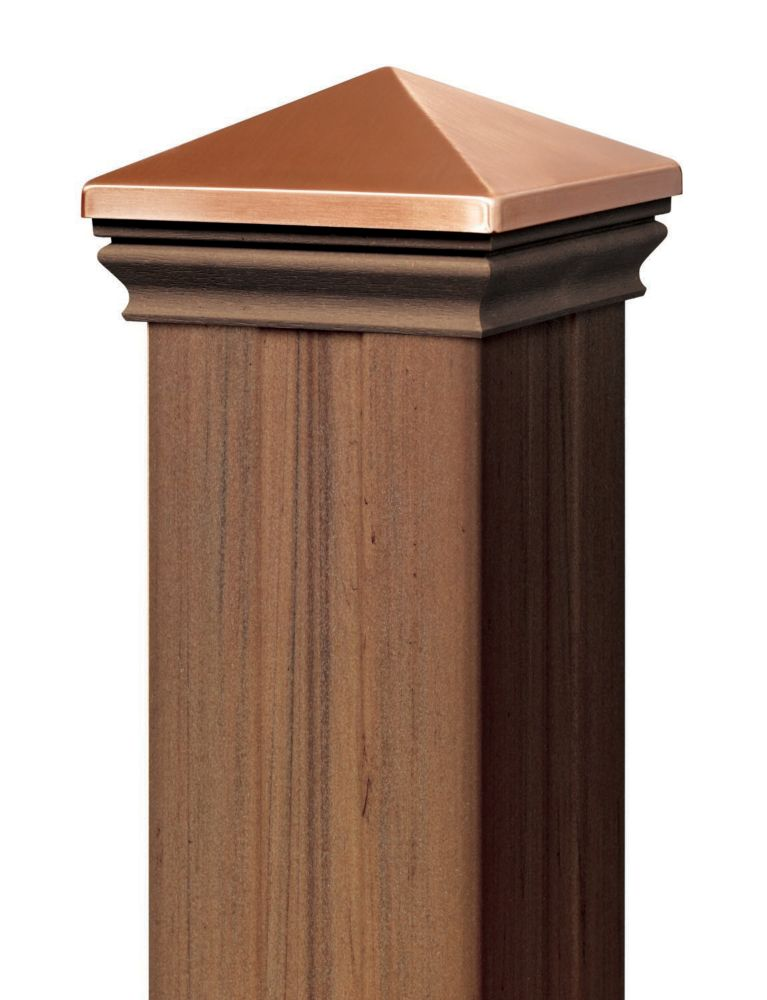 4 Ft. - Post Sleeve Kit  (with matchIng cap & base collar) - Chestnut - Railing