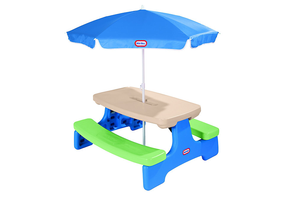 Table de pique-nique Easy Store™ avec parasol