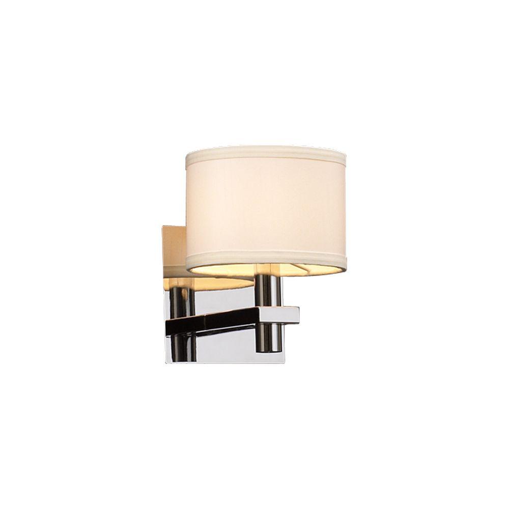 Lumière Contemporary Beauty fixée au mur à une ampoule avec abat-jour blanc, finition de spéciali...