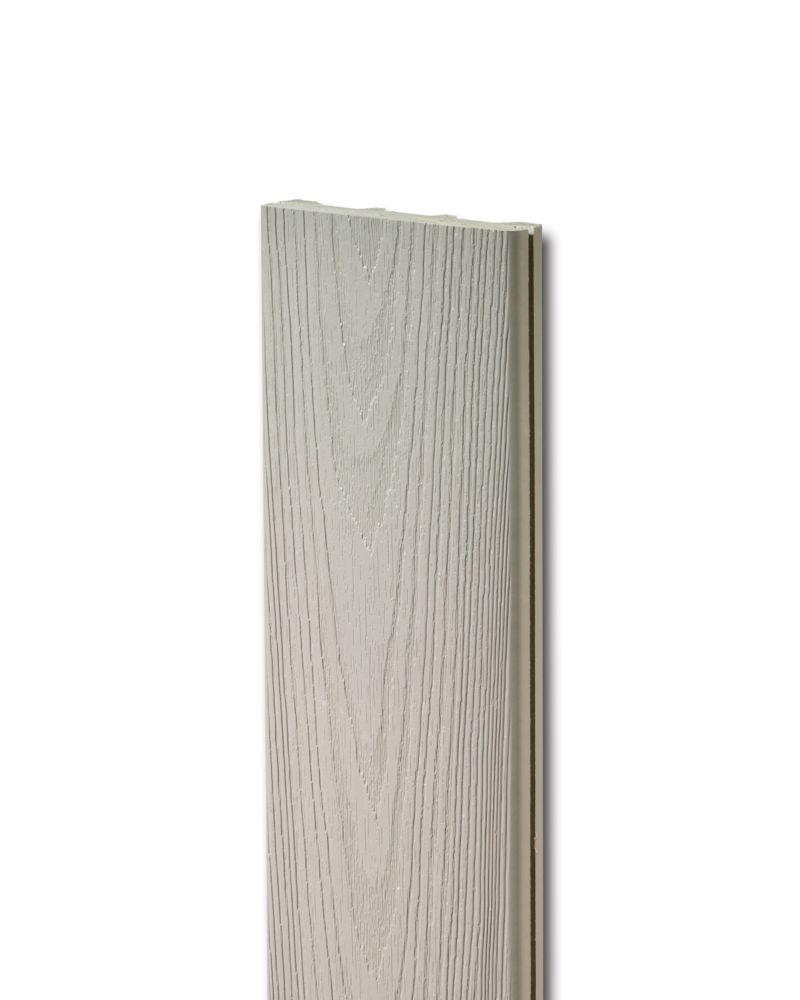 Veranda planche de terrasse HP solide - Gris 12'