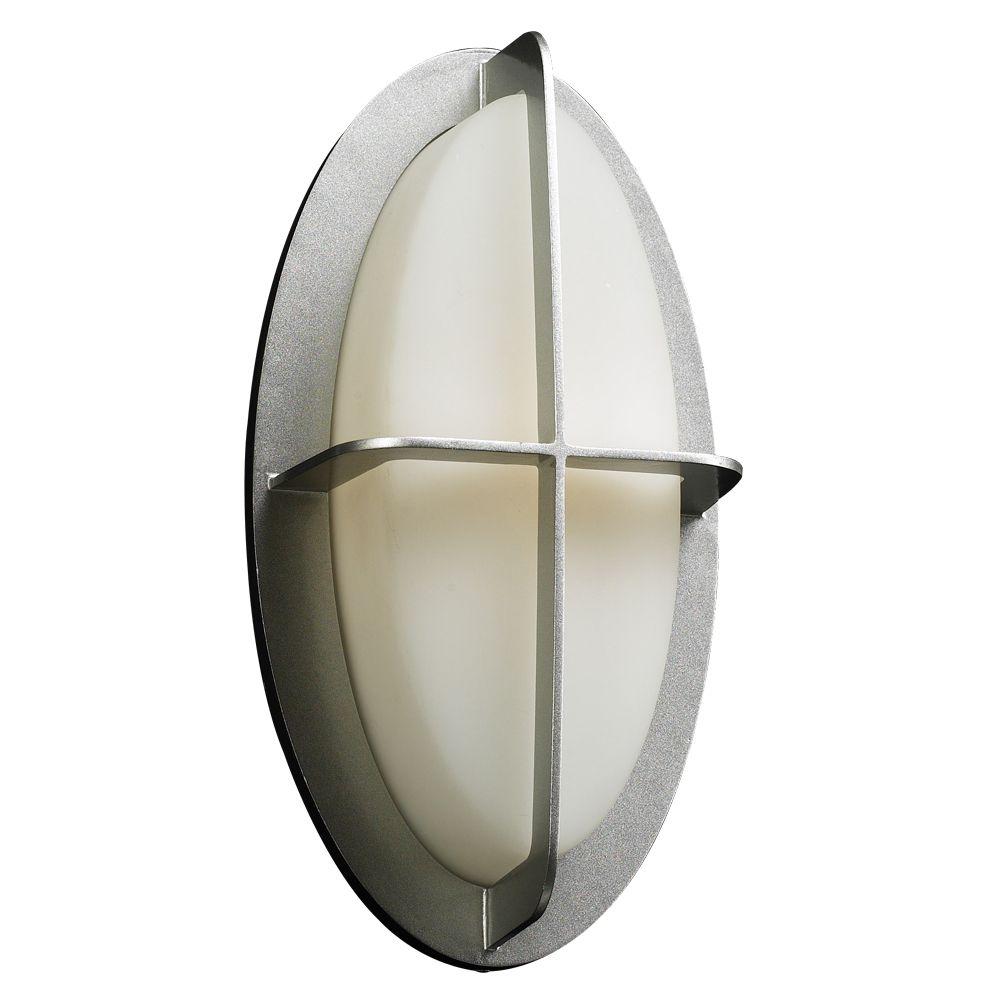 Lumière Contemporary Beauty fixée au mur à une ampoule avec abat-jour de spécialité, Fini argent