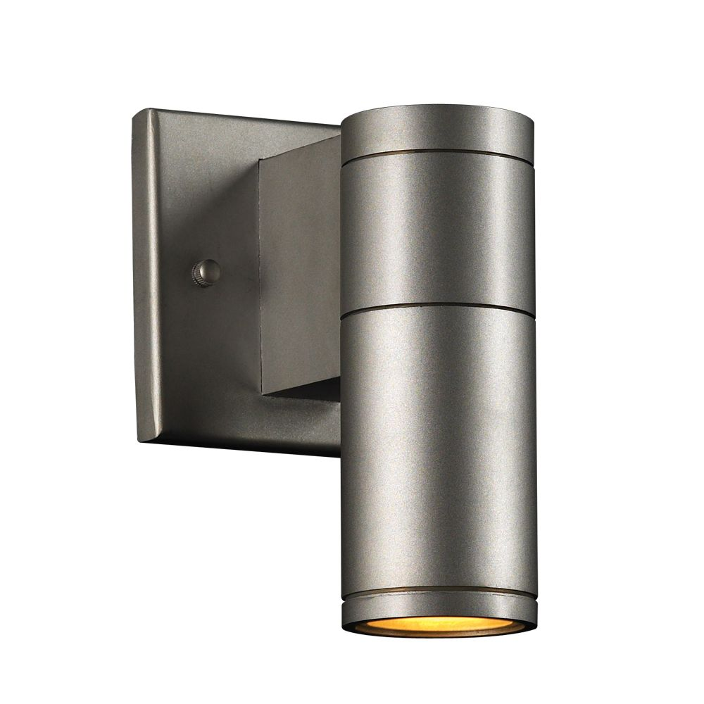 1 Light Outdoor Wall Sconce with and Aluminum Finish