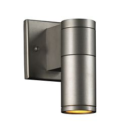 Contemporary Beauty 1-Light Outdoor Wall Sconce with and Aluminum Finish