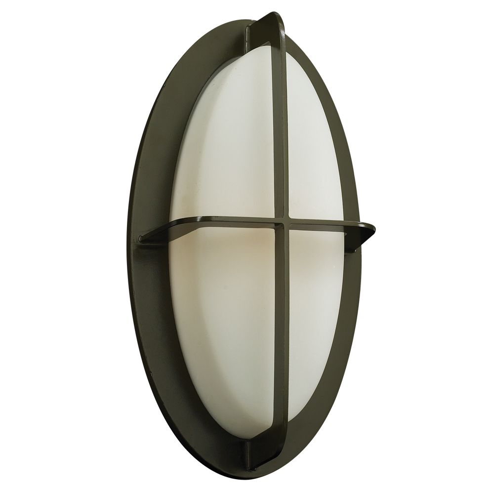 Contemporary Beauty 1 Light Outdoor Wall Sconce with Matte Opal Glass and Bronze Finish