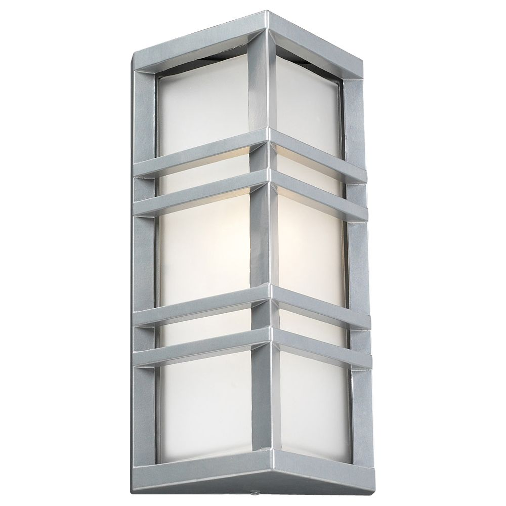 1 Light Outdoor Wall Sconce with Frost Glass and Slate Finish
