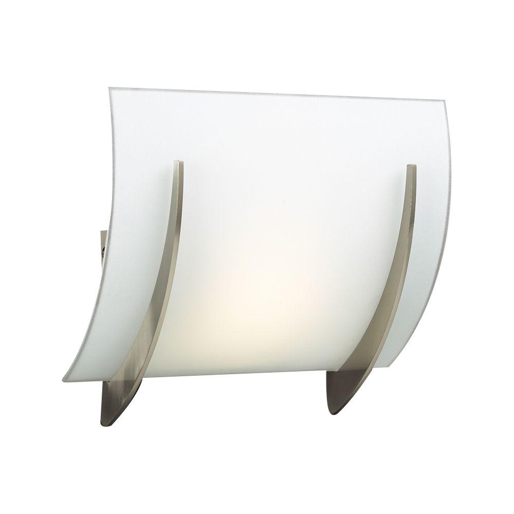 Lumière Contemporary Beauty fixée au mur à une ampoule avec abat-jour de spécialité, finition de ...