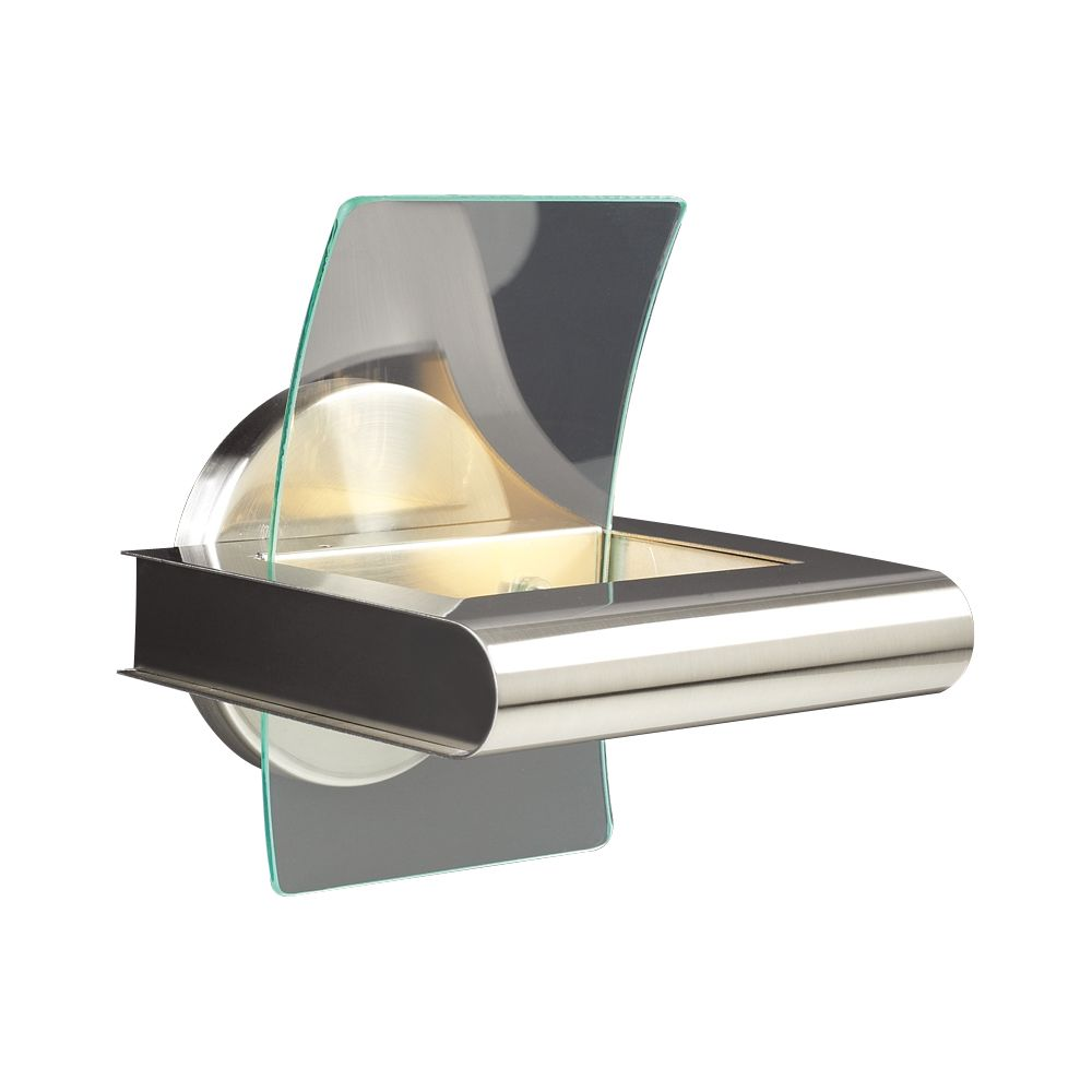 1 Light Sconce with Clear Glass and Satin Nickel Finish