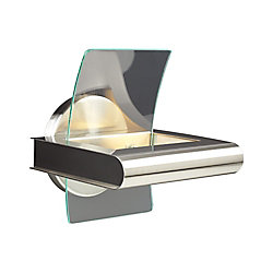 Contemporary Beauty 1 Light Sconce with Clear Glass and Satin Nickel Finish
