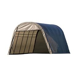 ShelterLogic 13 ft. x 28 ft. x 10 ft. Round Style Shelter with Grey Cover