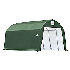12 ft. x 20 ft. x 11 ft. Barn Style Shelter in Green