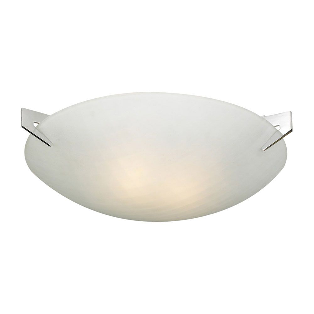 Contemporary Beauty Contemporary Beauty 2 Light Flush Mount with Acid Frost Glass and Polished Chorme Finish