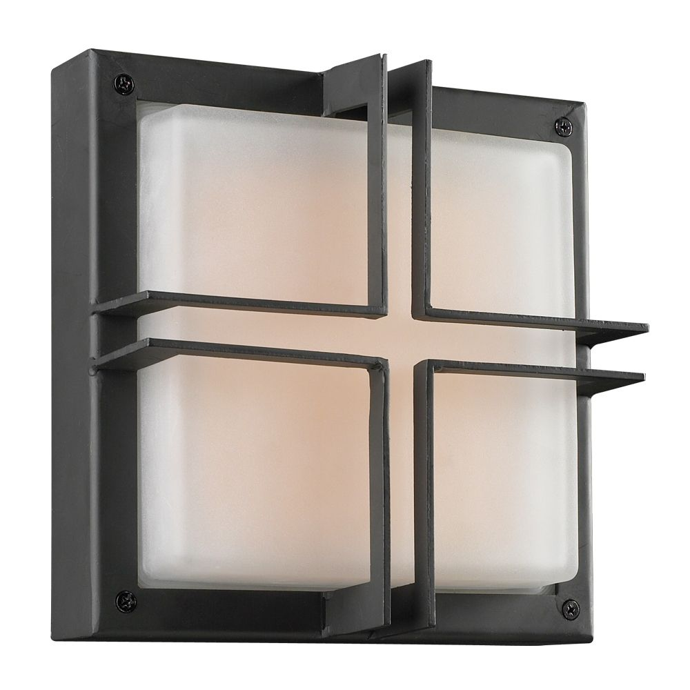1 Light Outdoor Wall Sconce with Frost Glass and Bronze Finish CLI-HD1256584 Canada Discount