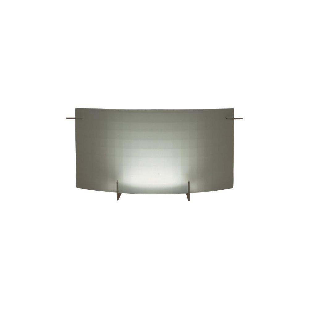 1 Light Sconce with Acid Frost Glass and Polished Chorme Finish