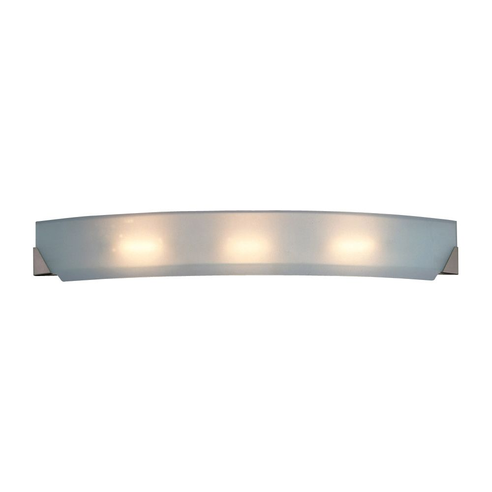 Contemporary Beauty 3 Light Bath Light with Acid Frost Glass and Polished Chorme Finish