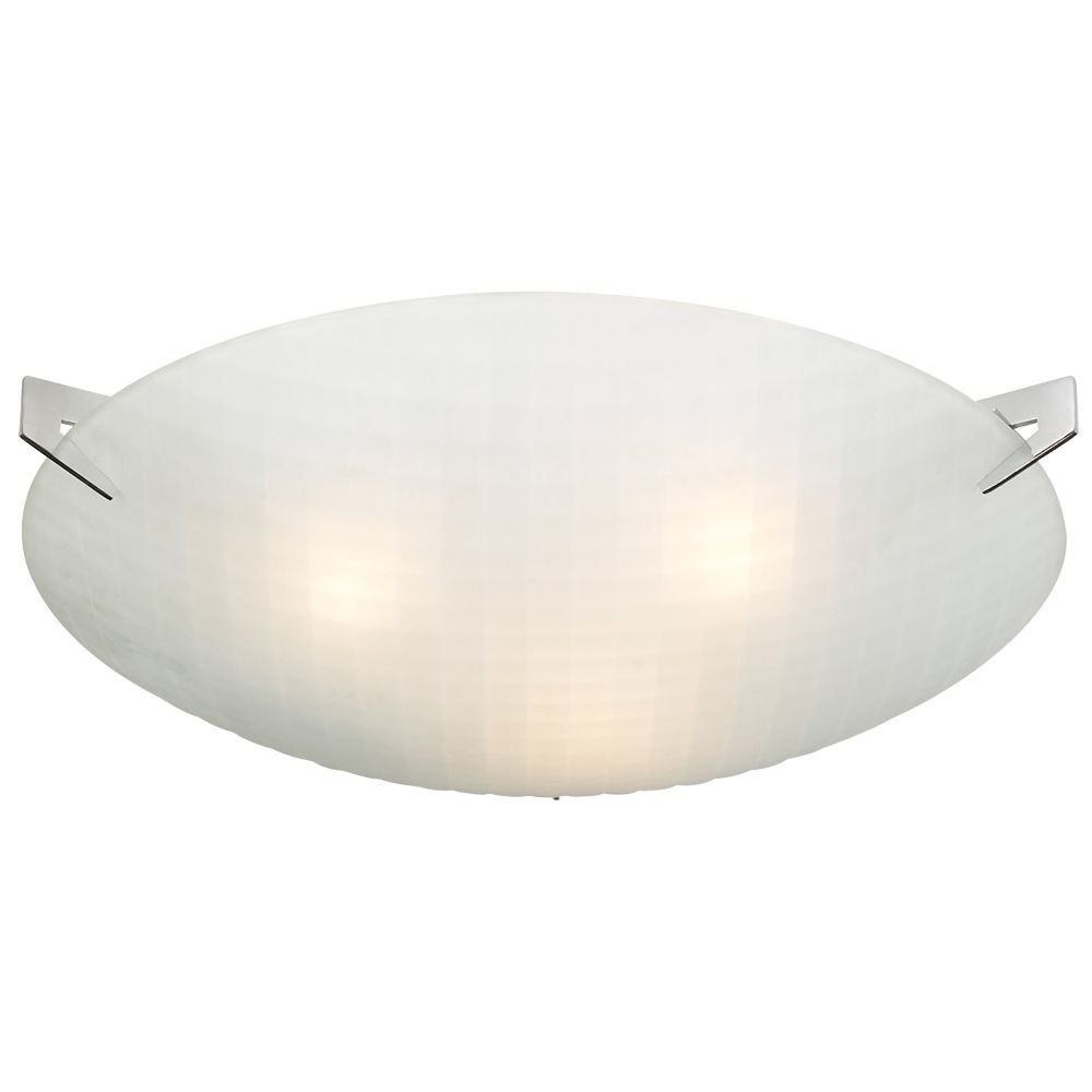 Contemporary Beauty Contemporary Beauty 3 Light Flush Mount with Acid Frost Glass and Polished Chorme Finish