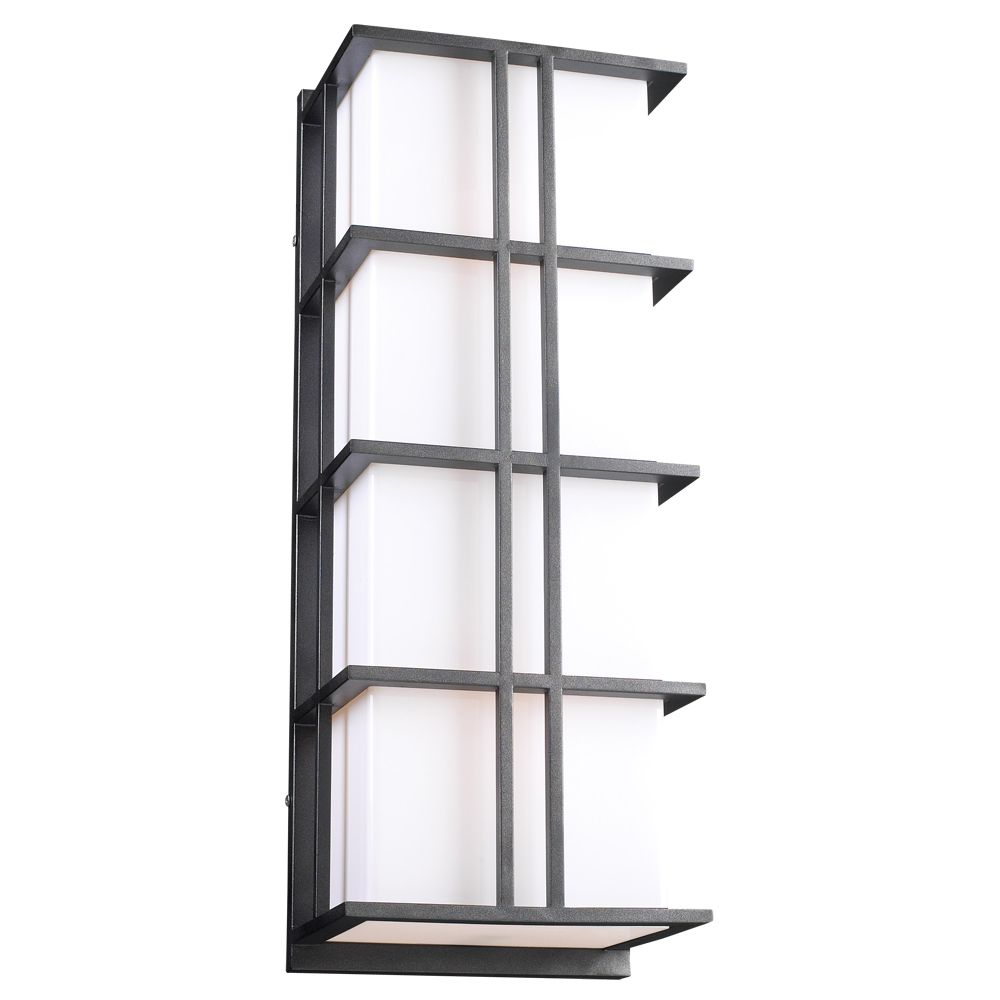 Contemporary Beauty 2 Light Outdoor Wall Sconce with Matte Opal Glass and Bronze Finish