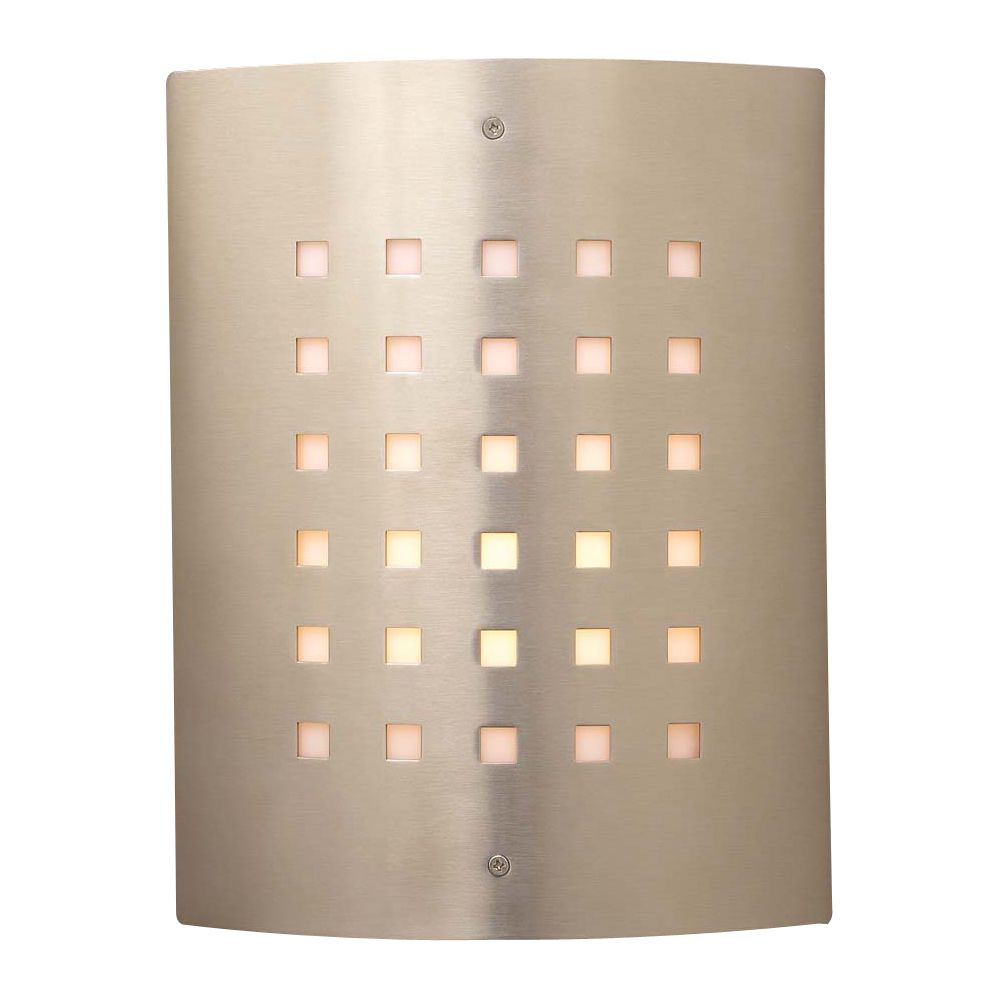 1 Light Outdoor Wall Sconce with Matte Opal Glass and Satin Nickel Finish CLI-HD1177384 in Canada