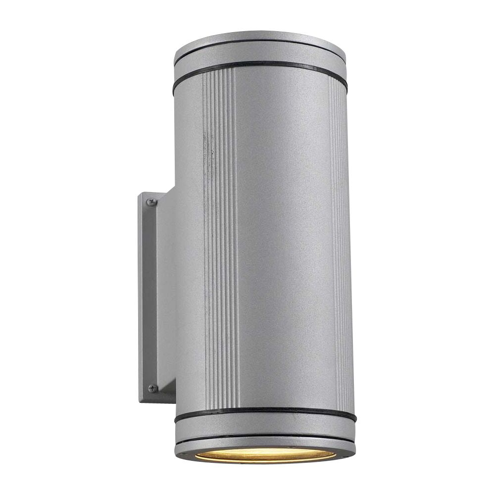 Contemporary Beauty 2 Light Outdoor Wall Sconce with Clear Glass and Slate Finish