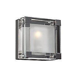 Contemporary Beauty 1 Light Sconce with Clear Glass and Polished Chorme Finish