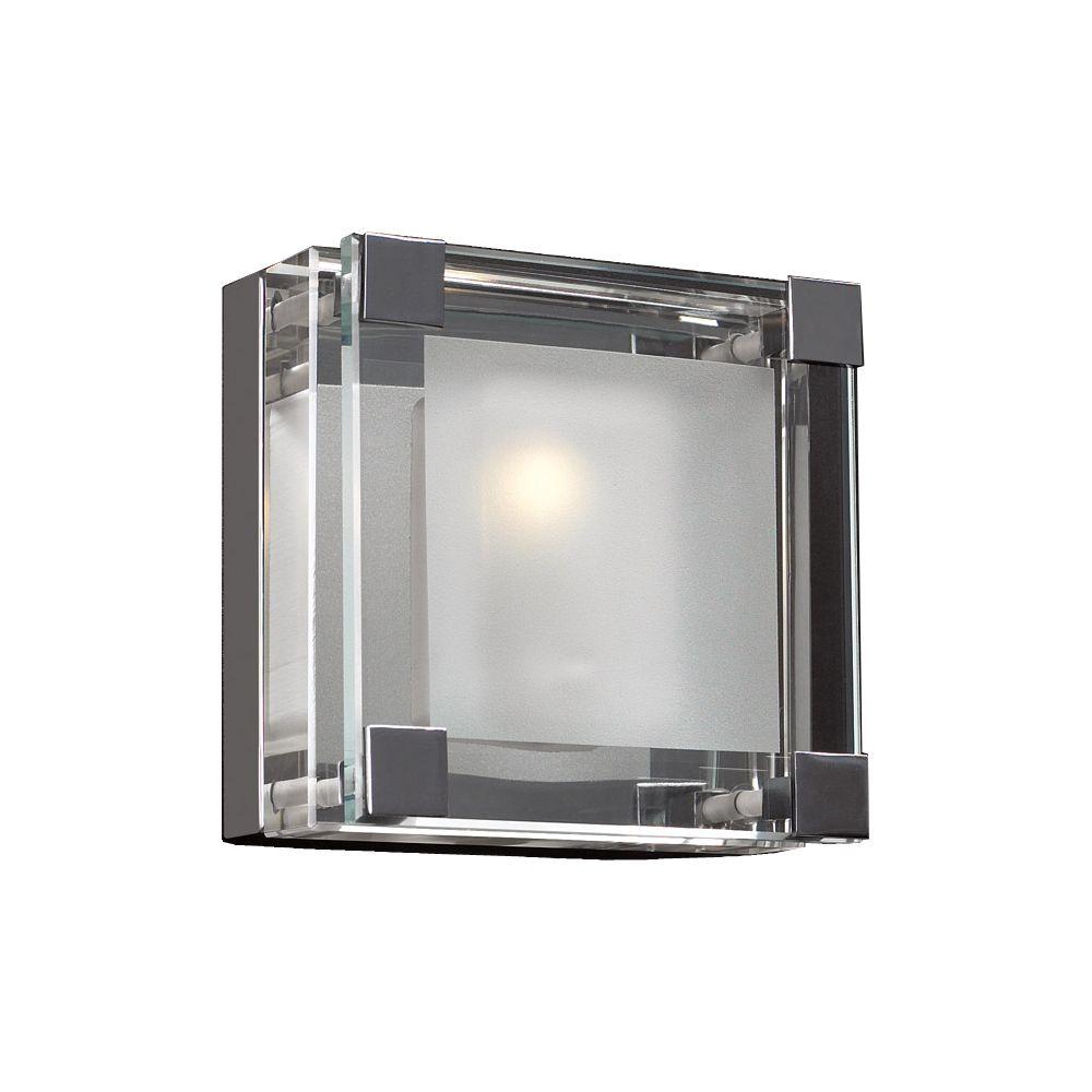 Lumière Contemporary Beauty fixée au mur à une ampoule avec abat-jour clair, finition de spéciali...
