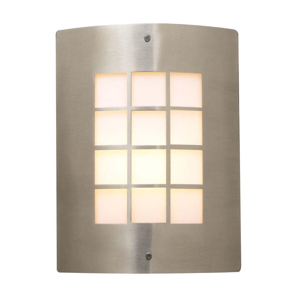 Contemporary Beauty 1 Light Outdoor Wall Sconce with Matte Opal Glass and Satin Nickel Finish