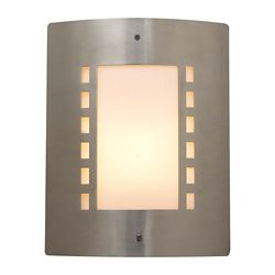 Contemporary Beauty Contemporary Beauty 1 Light Outdoor Wall Sconce with Matte Opal Glass and Satin Nickel Finish