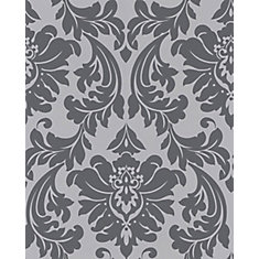 Majestic 8-inch x 5 3/4-inch Grey Wallpaper Sample