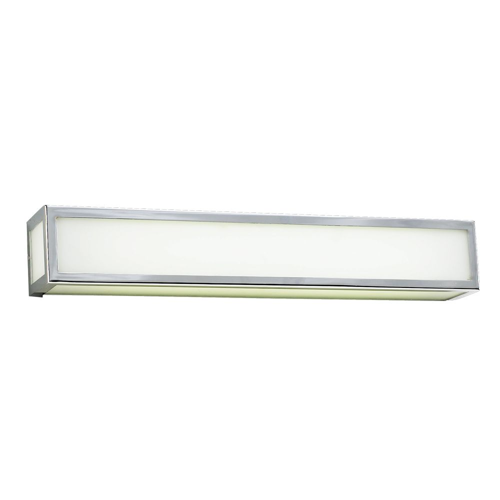 1 Light Bath Light with Matte Opal Glass and Polished Chorme Finish