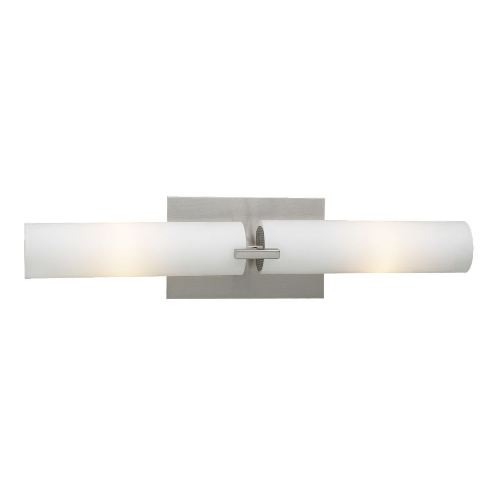 3 Light Bath Light with Matte Opal Glass and Satin Nickel Finish