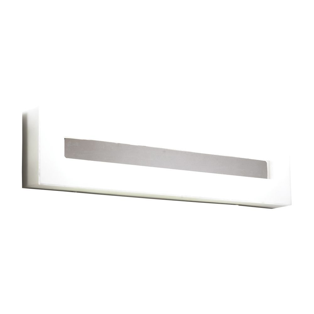 Contemporary Beauty 3 Light Bath Light with Frost Glass and Polished Chorme Finish