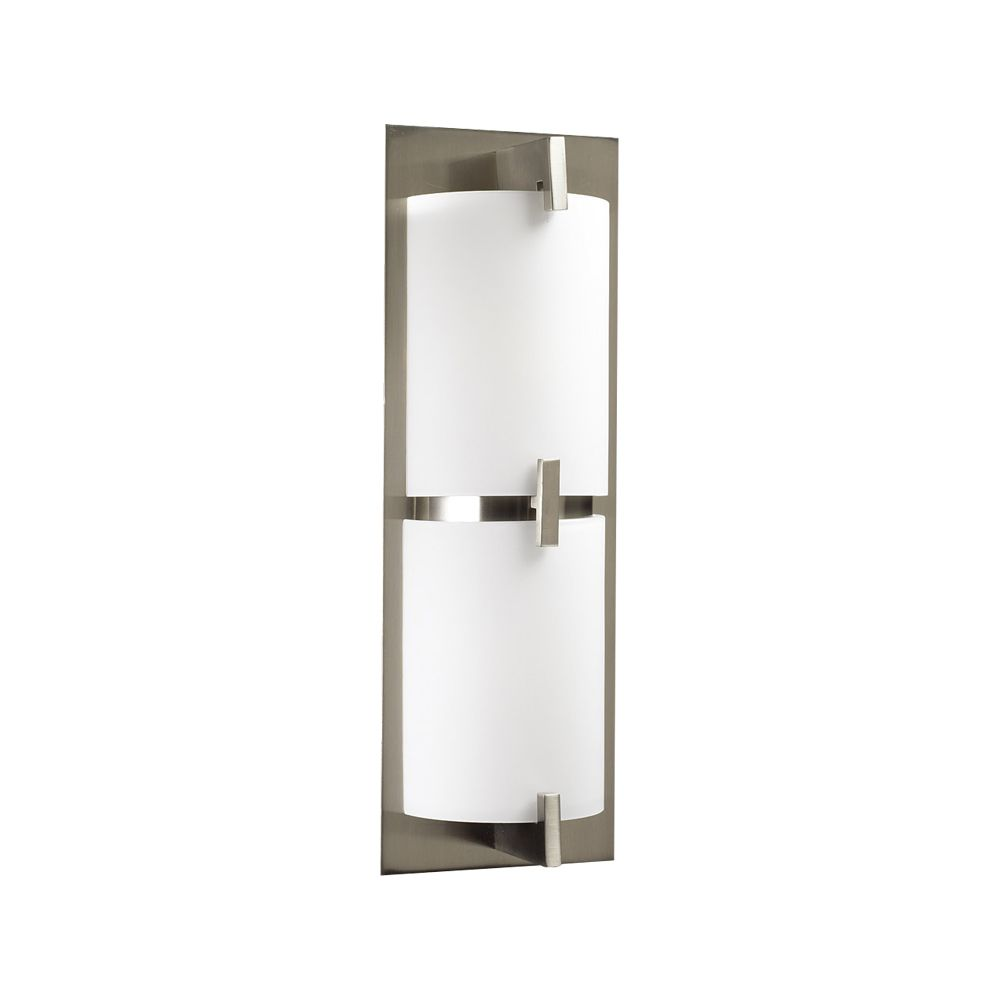 2 Light Bath Light with Matte Opal Glass and Satin Nickel Finish CLI-HD1272683 Canada Discount