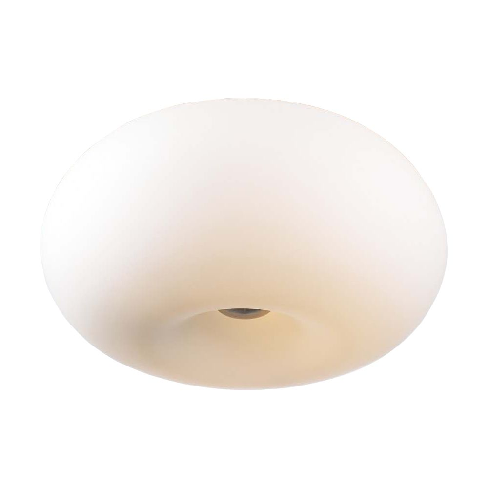 Contemporary Beauty 4 Light Flush Mount with Matte Opal Glass and Satin Nickel Finish