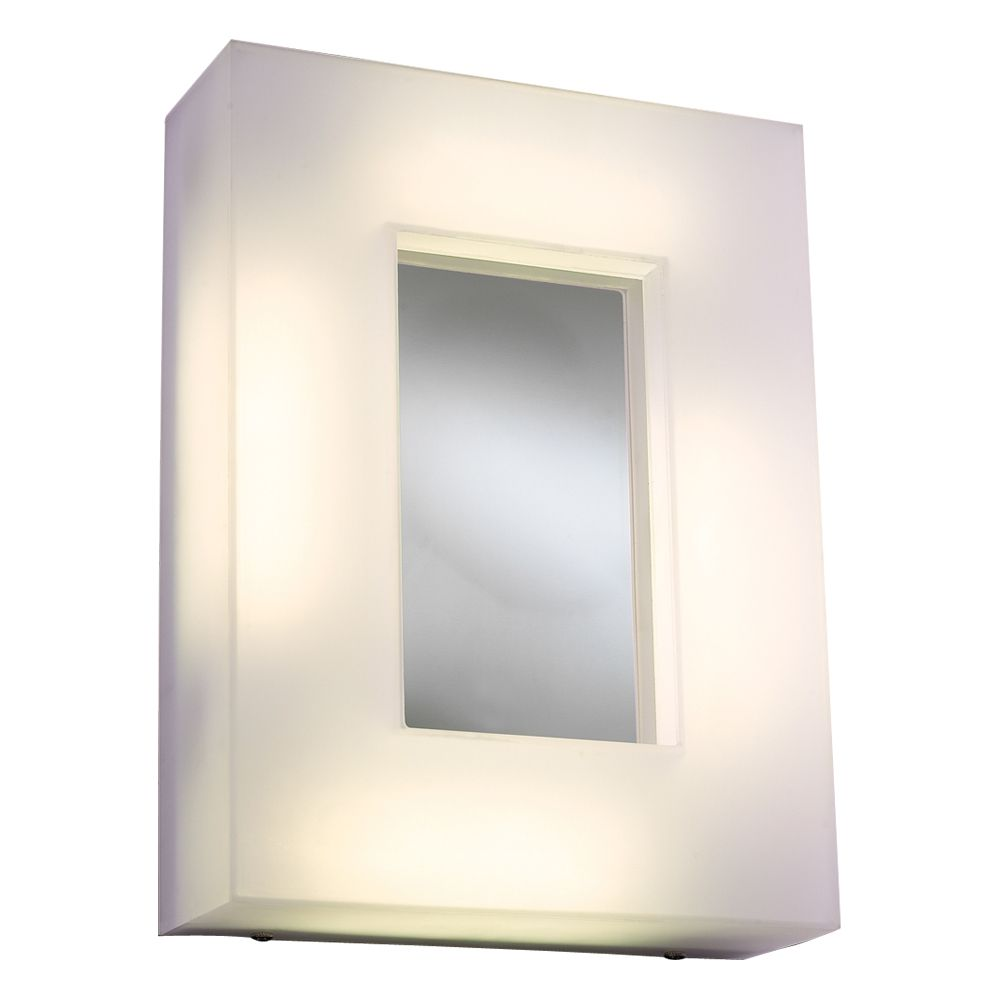 Contemporary Beauty 4 Light Sconce with Frost Glass and Polished Chorme Finish