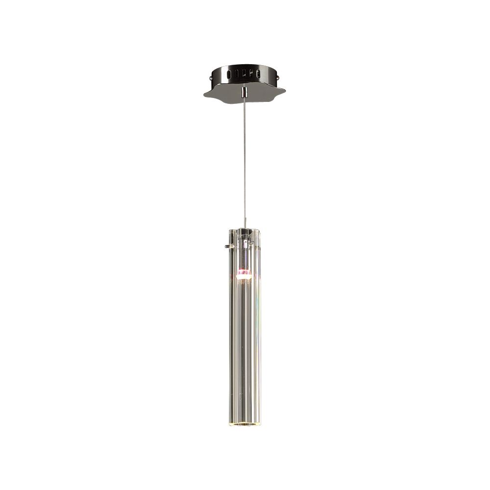 Contemporary Beauty 1 Light Mini Pendant with Clear Glass and Polished Chorme Finish