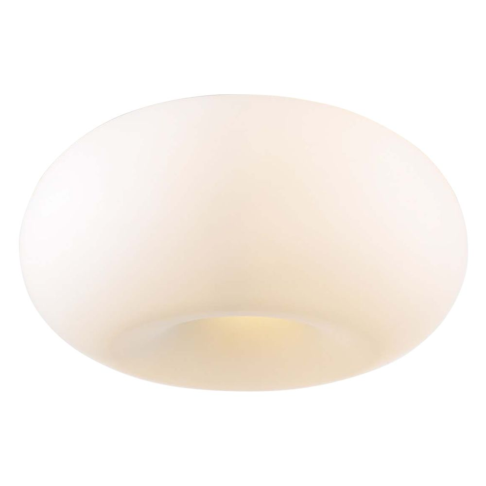 4 Light Flush Mount with Matte Opal Glass and Satin Nickel Finish