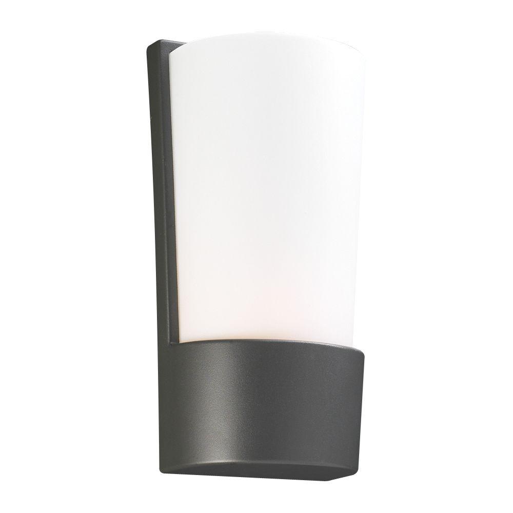Lumière fixée au mur à une ampoule avec abat-jour de spécialité, Fini bronze