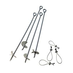 ShelterLogic 30-inch Earth Anchors Set (4-Piece)