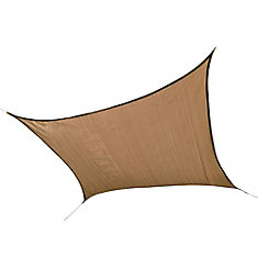 16 ft. Square Sun Shade in Sand Sail