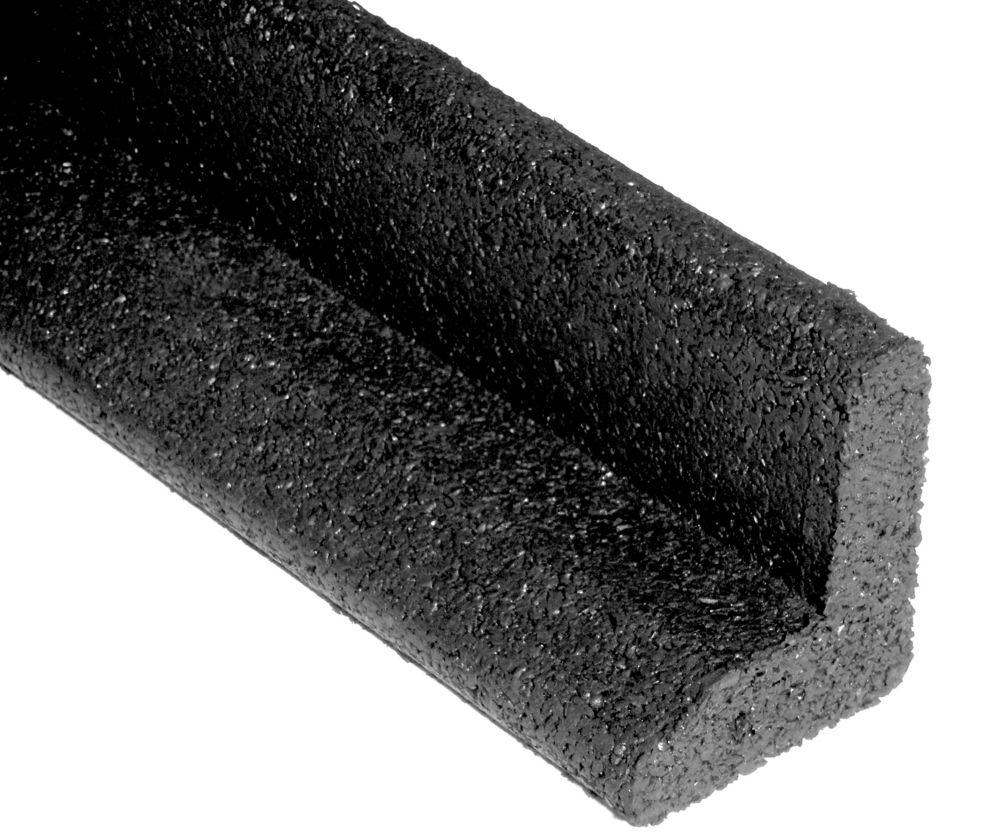 Ecoborder Noire  Bordure de paysagement avec un Profilé en L  Paquet de 6