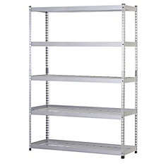 48-inch W x 78-inch H x 24-inch D 5-Shelf Steel Storage Shelving Unit