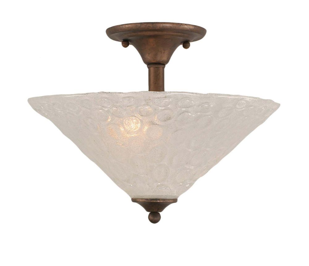 Concord 2 Light Ceiling Bronze Incandescent Semi Flush with a Clear Crystal Glass CLI-TL5009821 Canada Discount