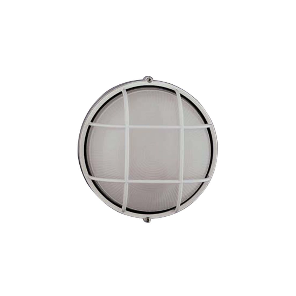 Contemporary Beauty 1 Light Outdoor Wall Sconce with Frost Glass and White Finish CLI-HD1155382 in Canada