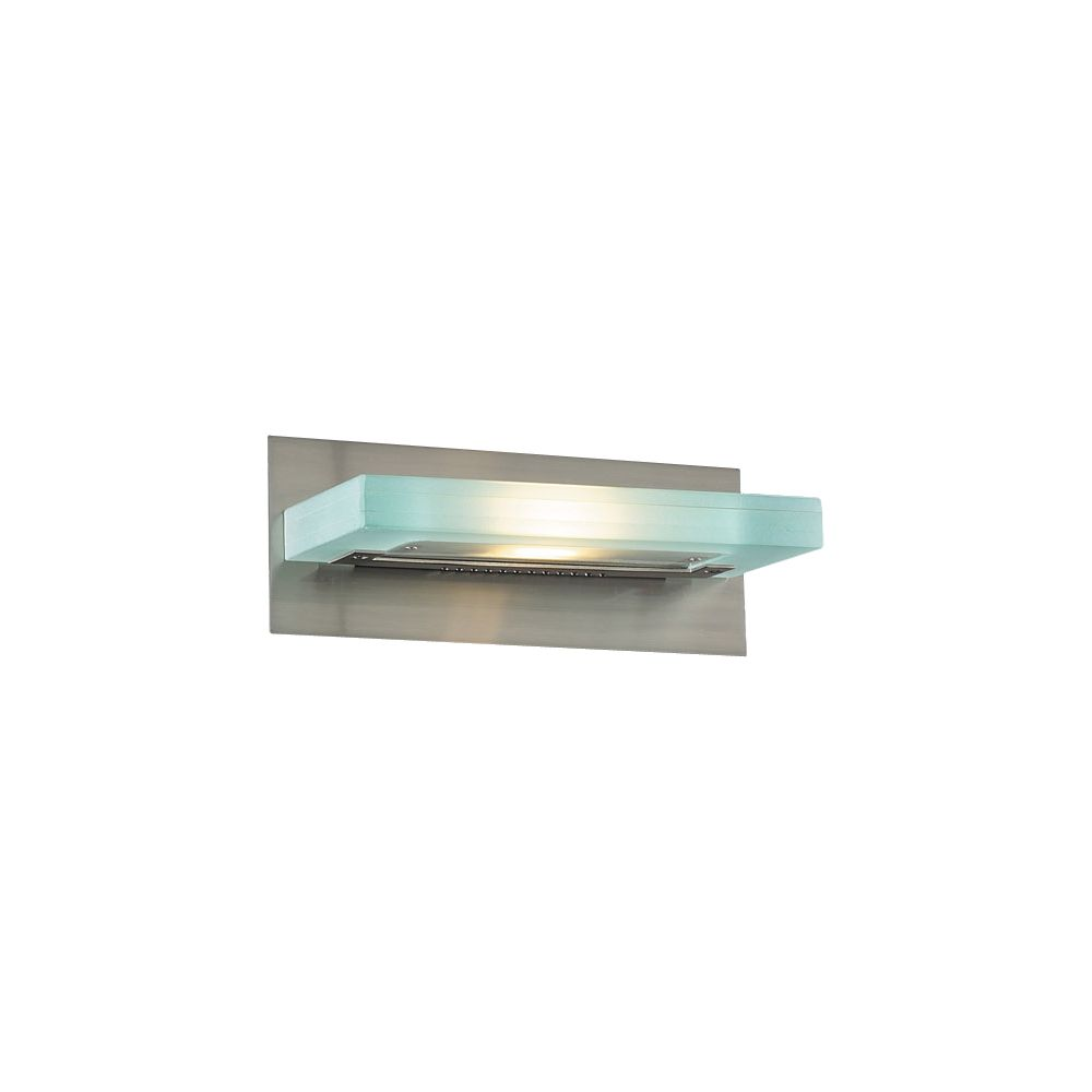 2 Light Bath Light with Acid Frost Glass and Satin Nickel Finish