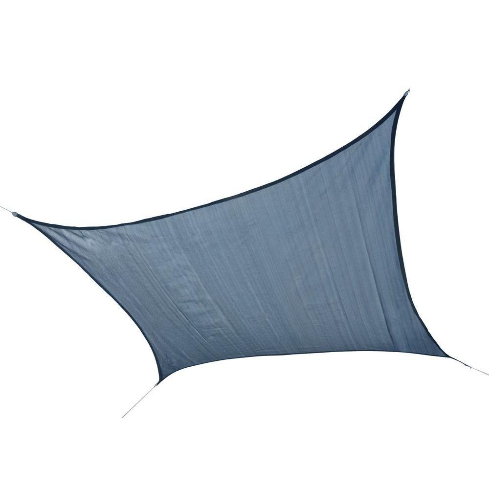 Bâche pare-soleil carrée, 12 pi, blue