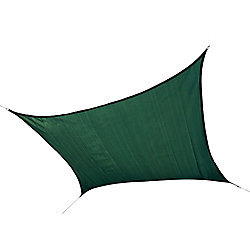 ShelterLogic 12 ft. Square Sun Shade Sail in Evergreen