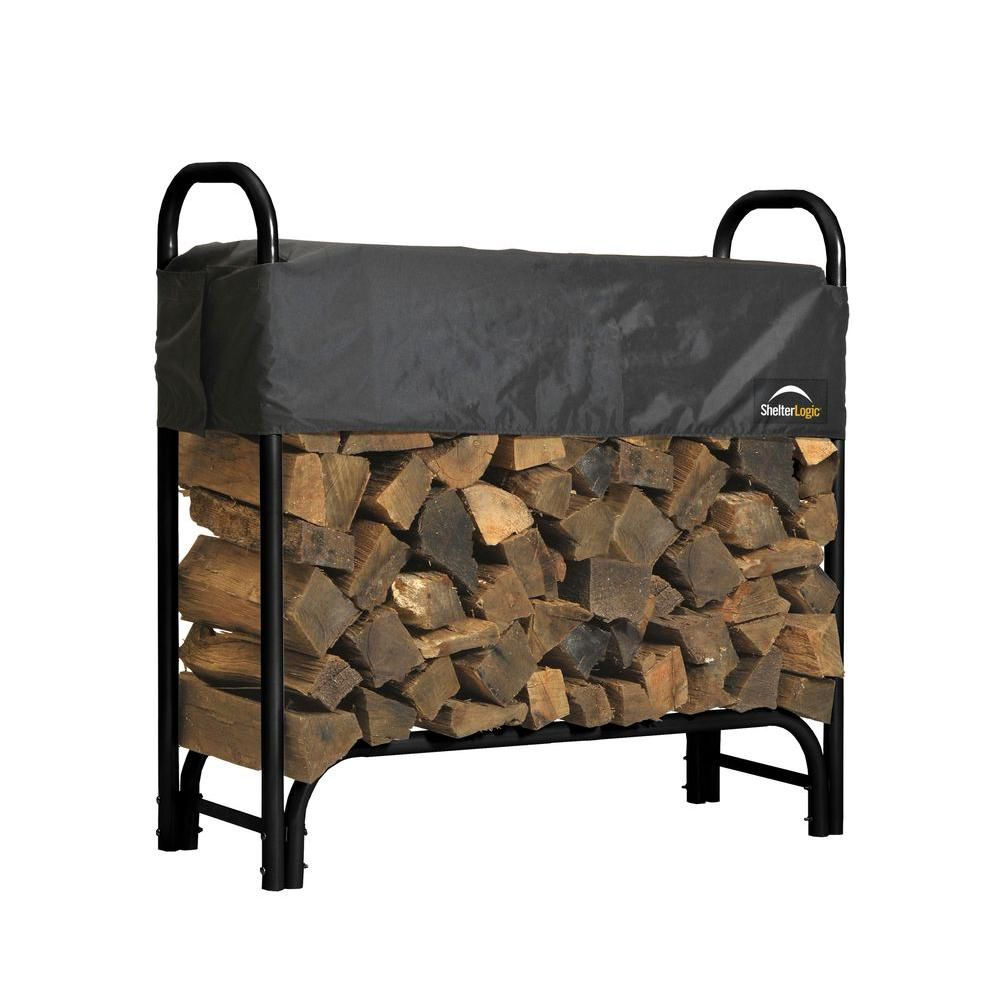 Firewood Rack with Cover - 4 Feet