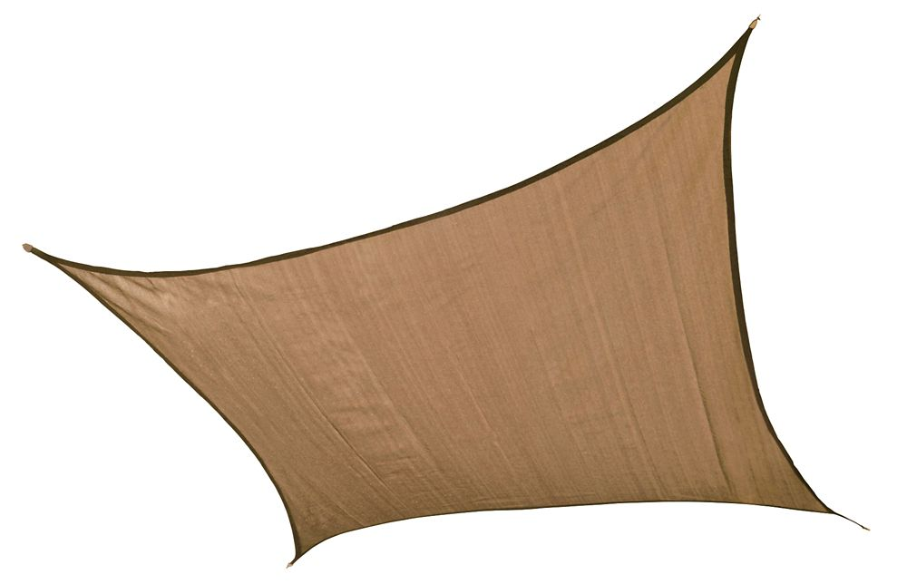 Square Sun Shade Sail, Sand - 12 Feet
