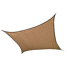 12 ft. Square Sun Shade Sail in Sand