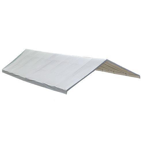 ShelterLogic Auvent blanc, 30 x 40 pi Toile de rechange blanche pour auvent à armature de 2 3/8 po