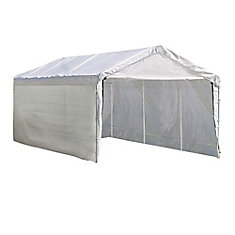 Super Max 10 ft. x 20 ft. 2-in-1 Canopy in White with Enclosure Kit